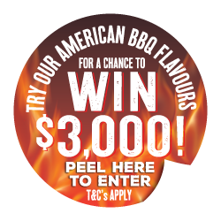 Win $3,000 Try Our American Flavours