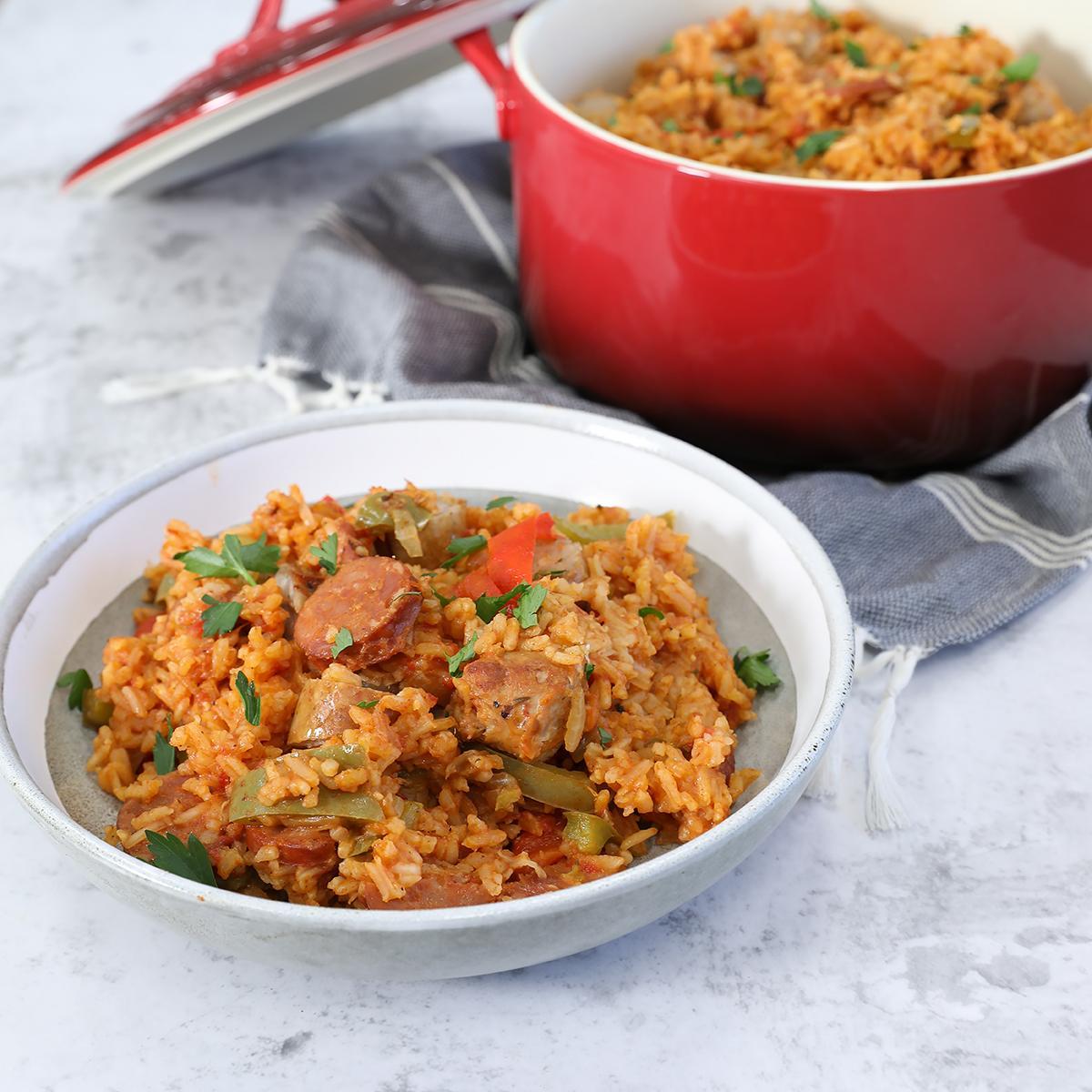 Spicy Sicilian Jambalaya - Sicilian Sausage