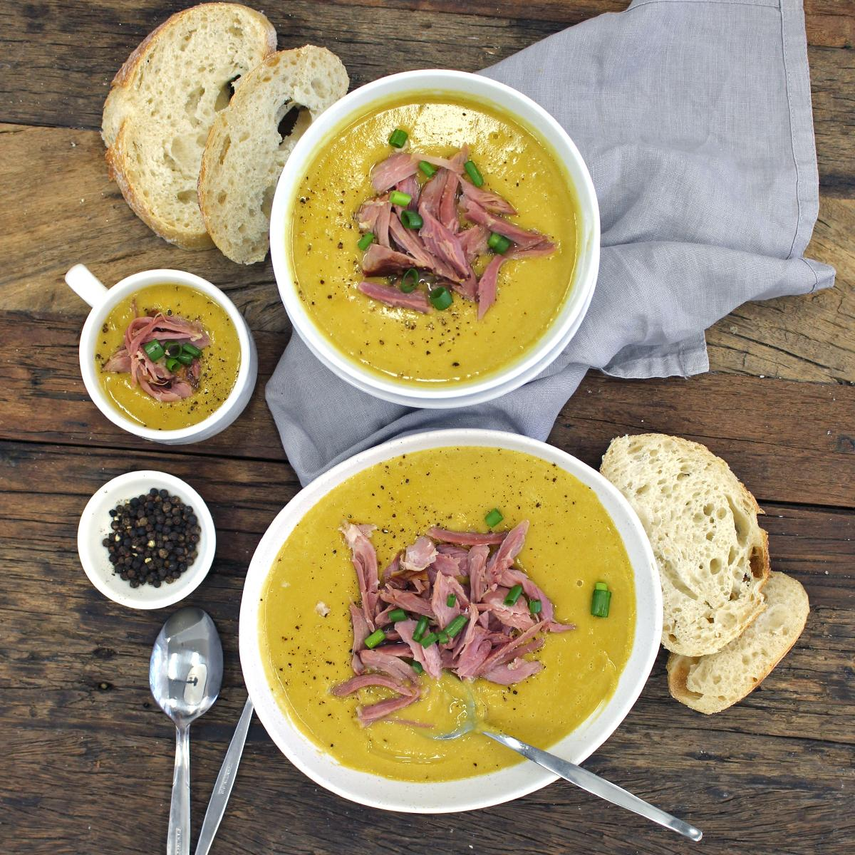 Slow Cooked Pea And Ham Soup - Bacon Hock
