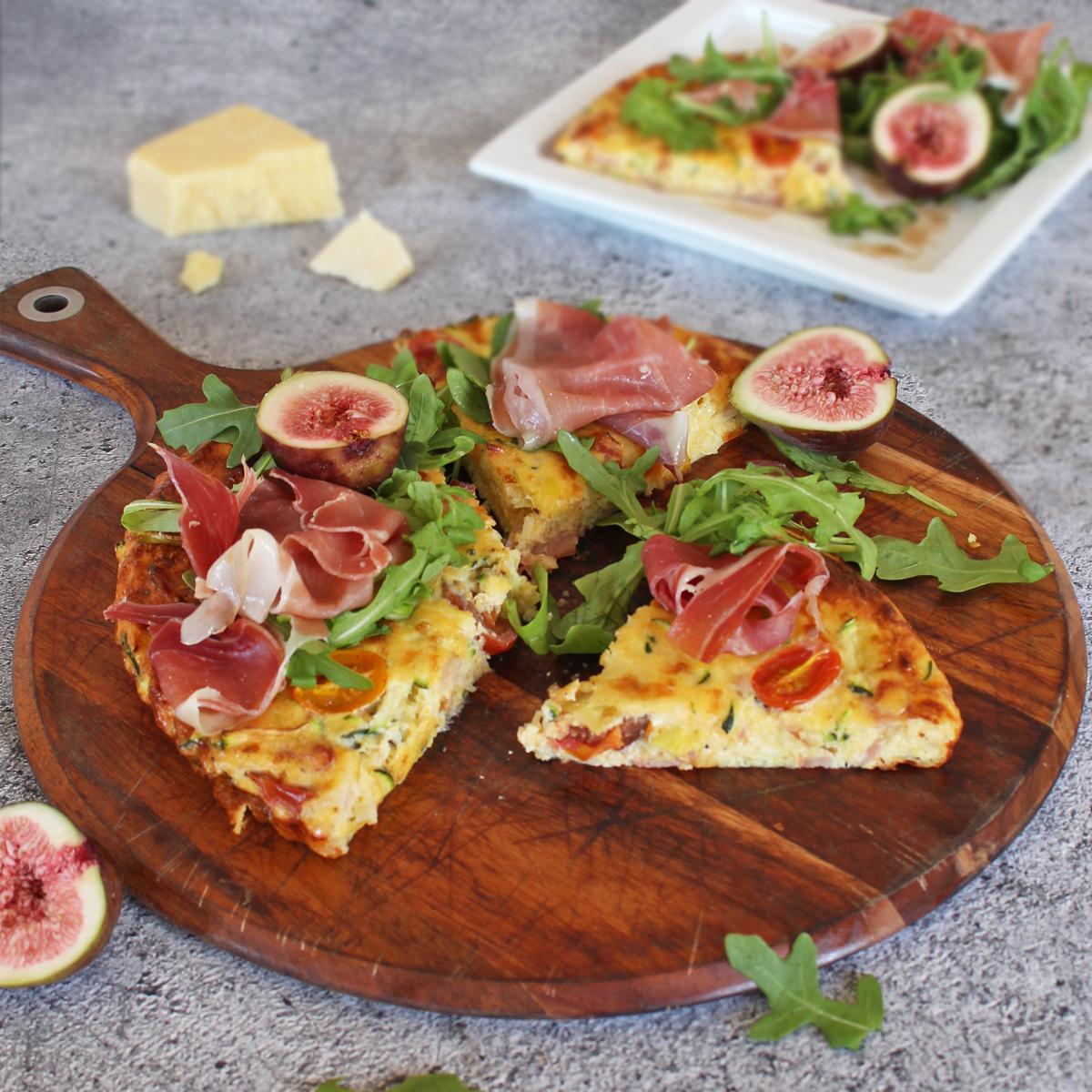 leg-ham-cheddar-and-polenta-frittata - Leg Ham